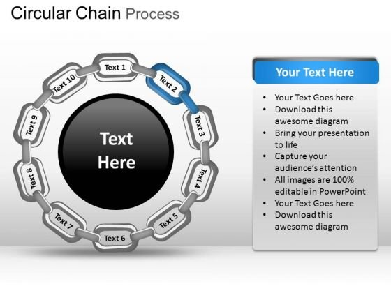 PowerPoint Presentation Strategy Circular Chain Ppt Layouts