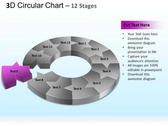 PowerPoint Presentation Strategy Circular Ppt Slides