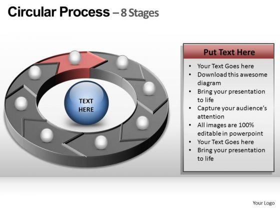 PowerPoint Presentation Strategy Circular Process Ppt Theme
