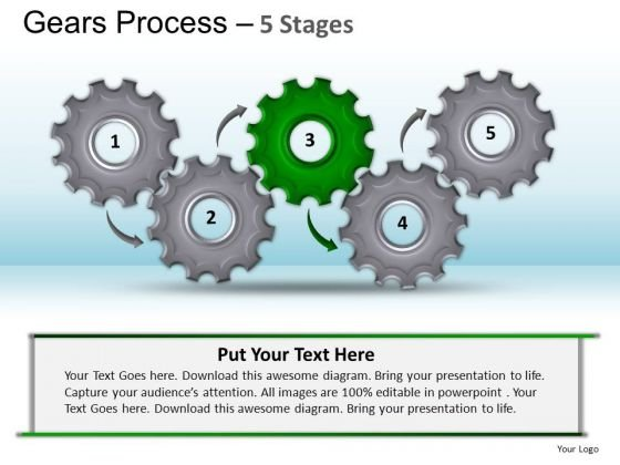 PowerPoint Presentation Strategy Gears Process Ppt Slide
