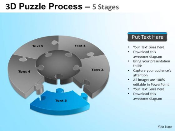 PowerPoint Presentation Strategy Jigsaw Pie Chart Ppt Themes