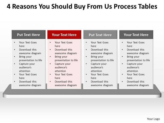 PowerPoint Presentation Strategy Process Tables Ppt Slide Designs