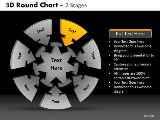 PowerPoint Presentation Strategy Round Chart Ppt Theme