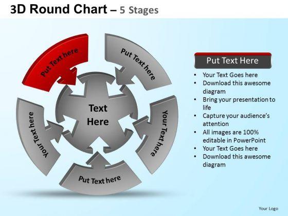 PowerPoint Presentation Strategy Round Process Flow Chart Ppt Design Slides