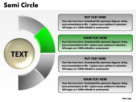 PowerPoint Presentation Strategy Semi Circle Chart Ppt Presentation