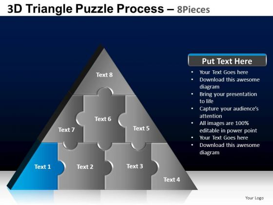 PowerPoint Presentation Strategy Triangle Puzzle Ppt Slide Designs