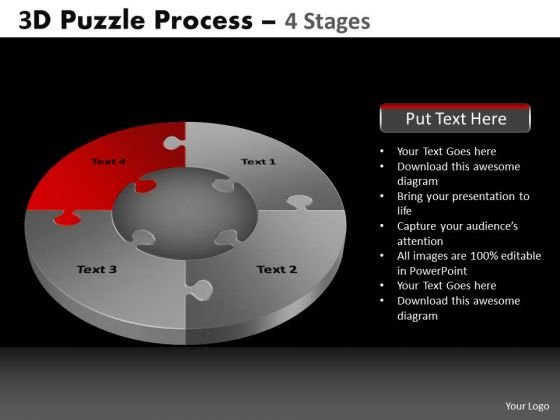 PowerPoint Presentation Success Pie Chart Puzzle Process Ppt Design Slides