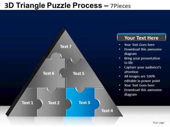 PowerPoint Presentation Success Triangle Puzzle Ppt Template