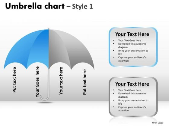 PowerPoint Presentation Success Umbrella Chart Ppt Slides