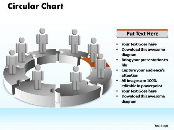 PowerPoint Presentation Teamwork Circular Ppt Theme