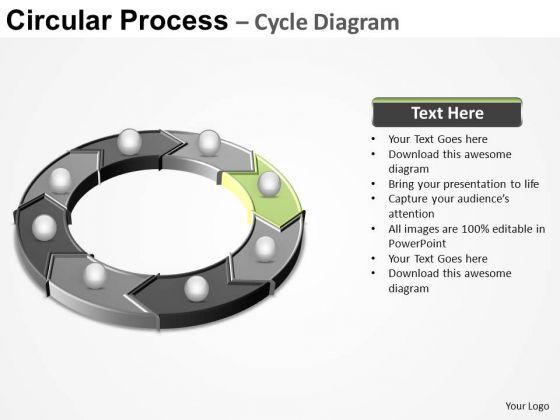 PowerPoint Presentation Teamwork Circular Process Ppt Slide Designs