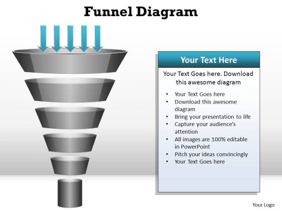 PowerPoint Presentation Teamwork Funnel Diagram Ppt Template