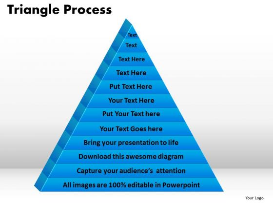 PowerPoint Presentation Triangle Process Graphic Ppt Theme