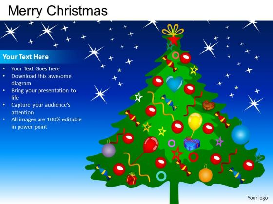 PowerPoint Presentation X-mas Tree Merry Christmas Ppt Design