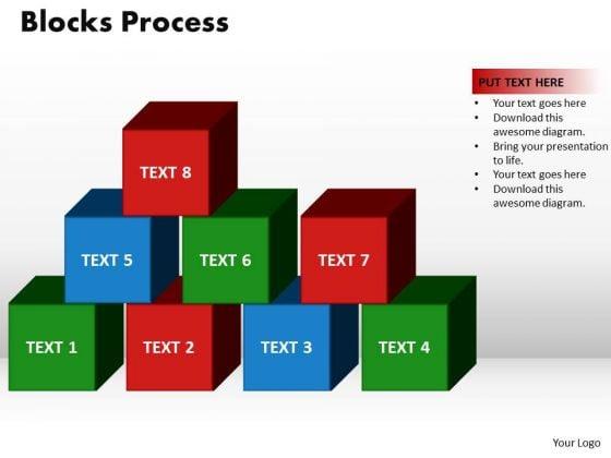 PowerPoint Process Blocks Process Leadership Ppt Design Slides