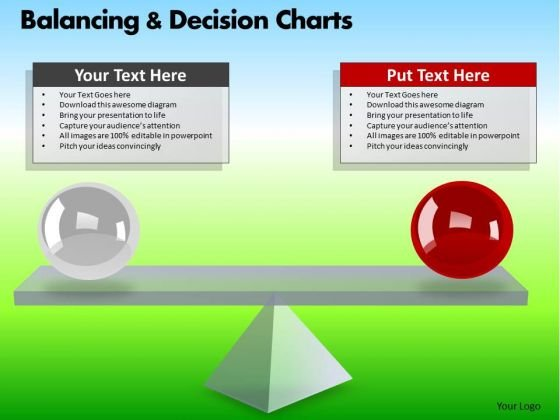 PowerPoint Process Business Growth Balancing Decision Charts Ppt Layouts
