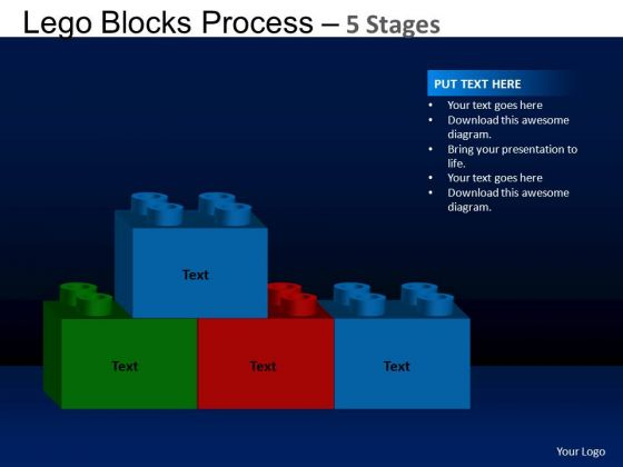 PowerPoint Process Business Lego Blocks Ppt Backgrounds
