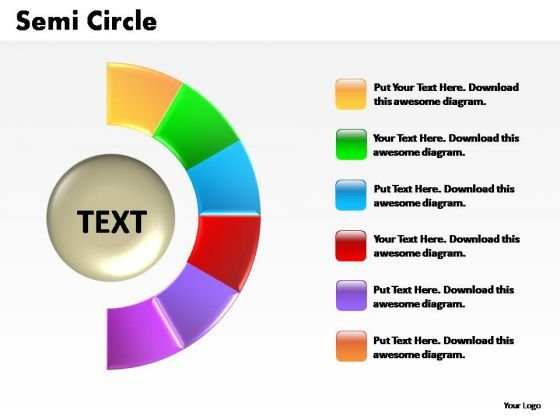 PowerPoint Process Business Semi Circle Ppt Template