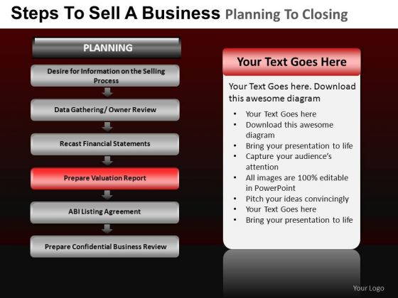 PowerPoint Process Chart Business Planning Ppt Layout
