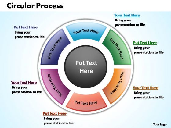 PowerPoint Process Chart Circular Process Ppt Template