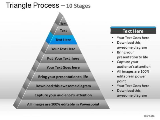 PowerPoint Process Chart Triangle Process Ppt Design