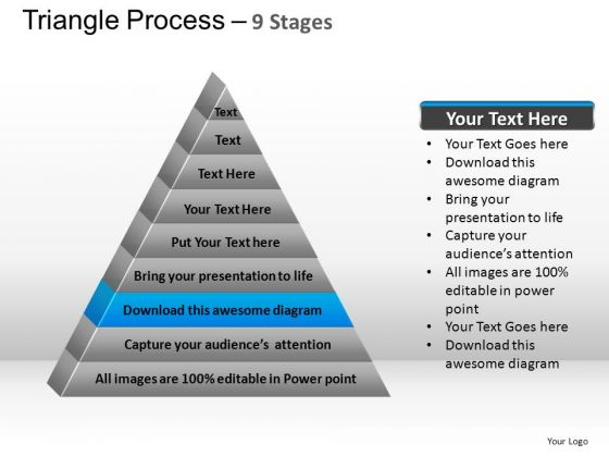 PowerPoint Process Chart Triangle Process Ppt Slide