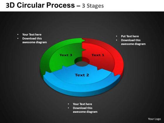 PowerPoint Process Circle Chart Circular Process Ppt Templates