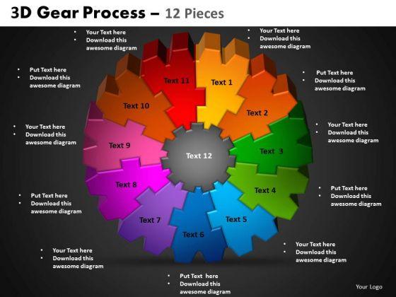 PowerPoint Process Circle Chart Gear Process Ppt Design