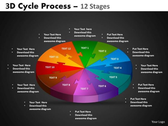 PowerPoint Process Circle Process Cycle Process Ppt Slides