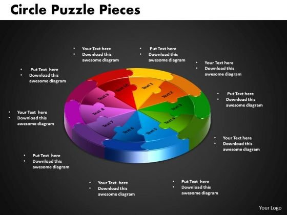 PowerPoint Process Circle Puzzle Diagram Ppt Backgrounds