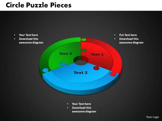 PowerPoint Process Circle Puzzle Graphic Ppt Slides