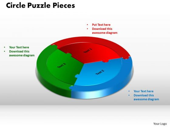 PowerPoint Process Circle Puzzle Image Ppt Template