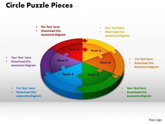 PowerPoint Process Circle Puzzle Pieces Success Ppt Presentation