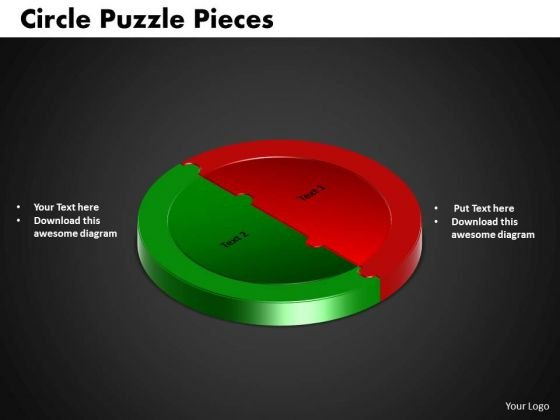 PowerPoint Process Circle Puzzle Process Ppt Template