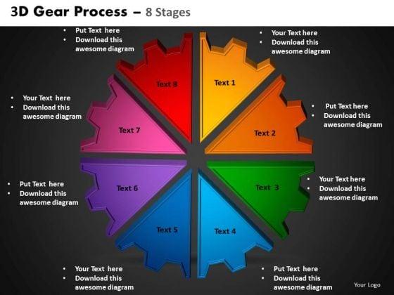 PowerPoint Process Circular Process Gear Process Ppt Theme