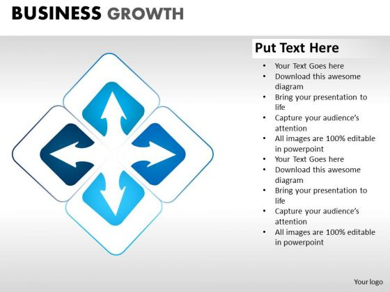 PowerPoint Process Company Business Growth Ppt Slides