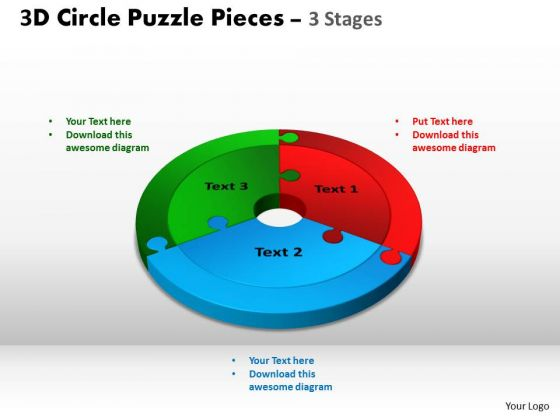 PowerPoint Process Company Circle Puzzle Ppt Slide