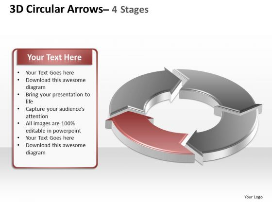 PowerPoint Process Company Circular Arrows Ppt Presentation
