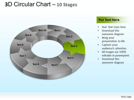 PowerPoint Process Company Circular Ppt Template