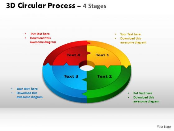 PowerPoint Process Company Circular Process Cycle Ppt Design