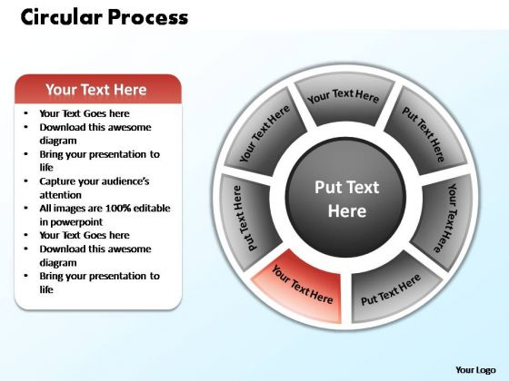 PowerPoint Process Company Circular Process Ppt Design Slides
