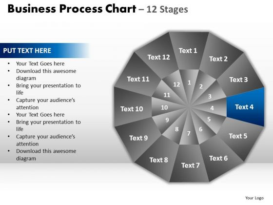 PowerPoint Process Company Circular Quadrant Ppt Template