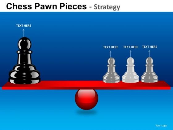 PowerPoint Process Company Competition Chess Pawn Ppt Layout
