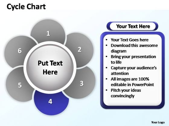 PowerPoint Process Company Cycle Chart Ppt Design Slides