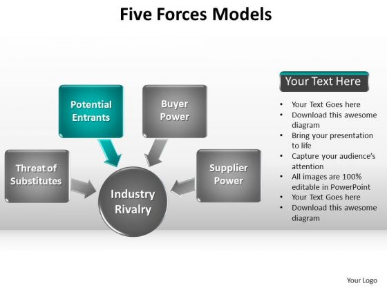PowerPoint Process Company Forces Models Ppt Backgrounds