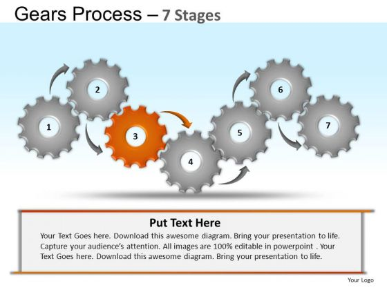 PowerPoint Process Company Gears Process Ppt Templates