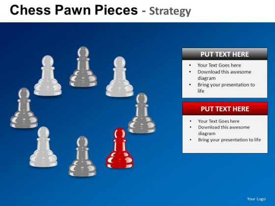 PowerPoint Process Company Growth Chess Pawn Ppt Designs