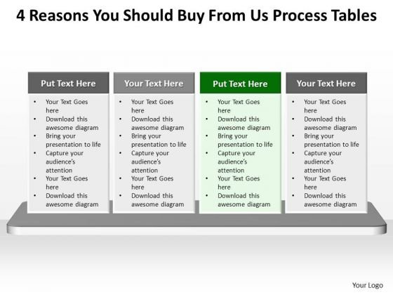 PowerPoint Process Company Process Tables Ppt Slide Designs
