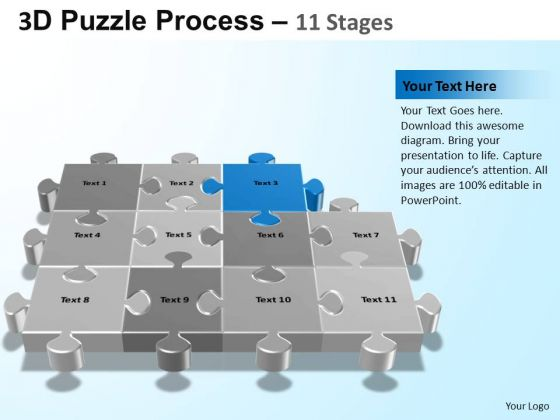 PowerPoint Process Company Puzzle Process Ppt Presentation Designs