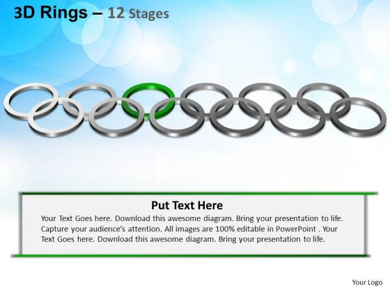 PowerPoint Process Company Rings Ppt Themes